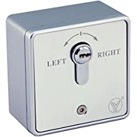 UHPPOTE European Type Emergency Release Exit Out Button With Key Switch for Hollow Door