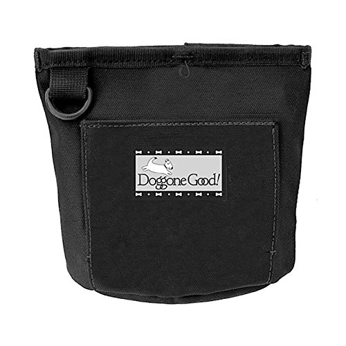 Doggone Good Trek & Train Bait Bag with Belt from Professional Quality (Black) ()