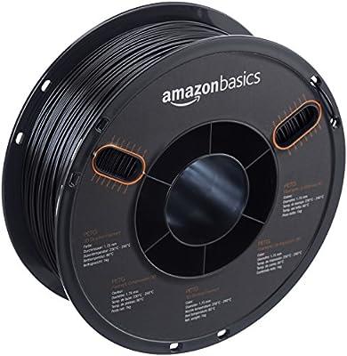 AmazonBasics PETG - Filamento de impresora 3D, 0, Negro: Amazon.es ...
