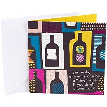Amazon hallmark studio ink birthday greeting card wine hallmark studio ink birthday greeting card wine bottles m4hsunfo