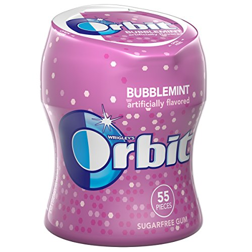 (Orbit Bubblemint Sugarfree Gum, 55 piece bottle)