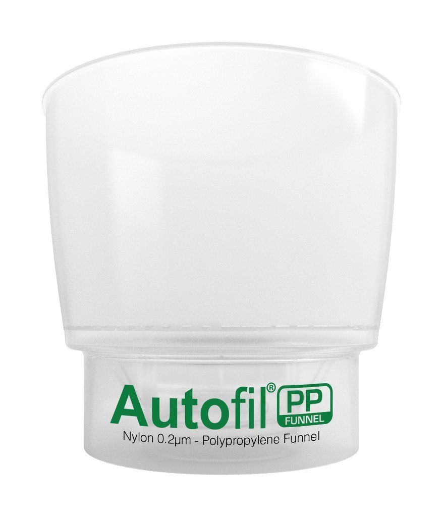 Autofil PP - Disposable Vacuum Bottle Top Filters for Solvent Filtration, with 0.2um Sterilizing Nylon Membrane, 500mL, GL45 Thread, Polypropylene Housing, Non-Sterile,  (Pack of 12)