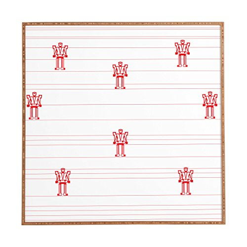 Deny Designs Vy La, Robots and Stripes, Framed Wall Art, Small, 12