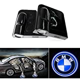 Soondar® 2-Pack New Design Wireless BMW LOGO Door Light Car Vehicle LED Courtesy Welcome Logo Light Shadow Ghost LED Light Lamp Projector Light - No Drilling Required