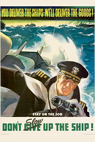 WPA War Propaganda You Deliver The Ships We Will Deliver The