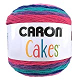 Caron Cake Self Striping Yarn 1 Ball Mixed Berry 7.1 ounces (Color: mixed berry)