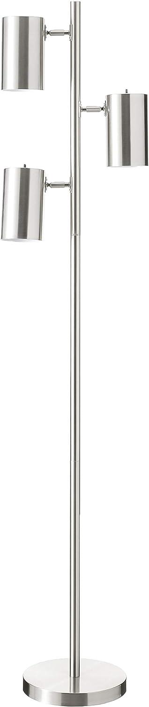 Kenroy Home Beech Floor Lamp, Brushed Steel