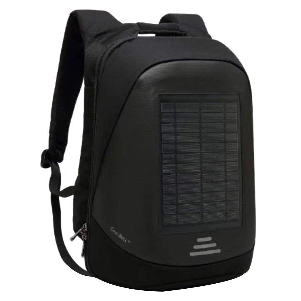 Mbtaua Solar Powered Backpack Charging Outdoor Waterproof Travel Computer Bag Hiking Bagpack