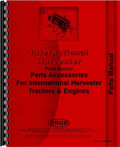 - McCormick Deering Tractor Accessories Supplement Parts Manual