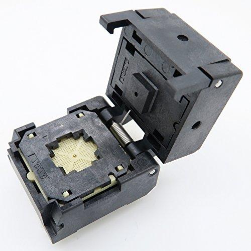 Clamshell, 0.4mm -0.4 Burn in Socket QFN60 MLF60 WLCSP60 Package Testing Adapter ALLSOCKET QFN60 7x7 0.4mm Pitch IC Size 7x7mm NP506-060-027-SC-G QFN IC MCU Programming Socket Burn-in