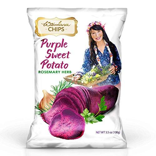 (Purple Sweet Potato Chips (3.5 oz) -12 PACK - Flavor: Rosemary Herb - Wai Lana)