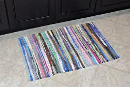 DII Home Essentials Rag Rug for Kitchen, Livingroom, Entry Way, Laundry Room, and Bedroom 20 x 31.5-Inches, Multi Colored