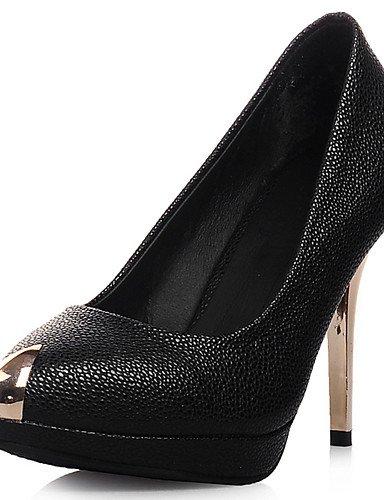 GGX/ Zapatos de mujer-Tacón Stiletto-Tacones / Plataforma / Puntiagudos-Tacones-Vestido / Fiesta y Noche-Semicuero-Negro / Rosa / Blanco , white-us10.5 / eu42 / uk8.5 / cn43 , white-us10.5 / eu42 / uk white-us7.5 / eu38 / uk5.5 / cn38