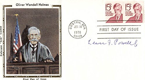 Associate Justice Lewis F. Powell Jr. - First Day Cover Signed (Powell Bench Office)