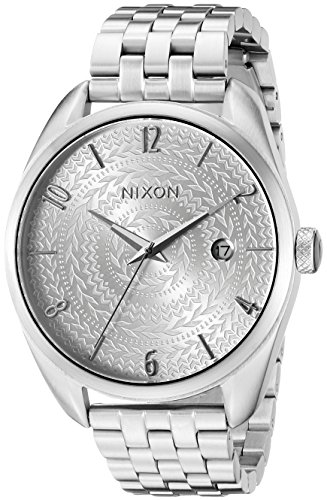 Nixon-Womens-A4182129-Bullet-Analog-Display-Japanese-Quartz-Silver-Watch