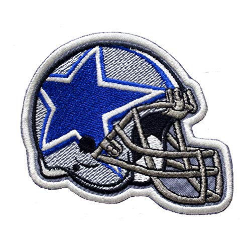 - Dallas Cowboys Helmet. Patch Iron On. Sew On. Size 3'' x 4'' (75mm x 100mm)