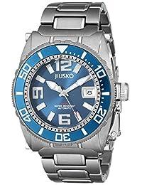 Jiusko Deep Sea 69LSBL08 Men's Automatic Lightweight Titanium 300m Silver Dive Watch, Blue