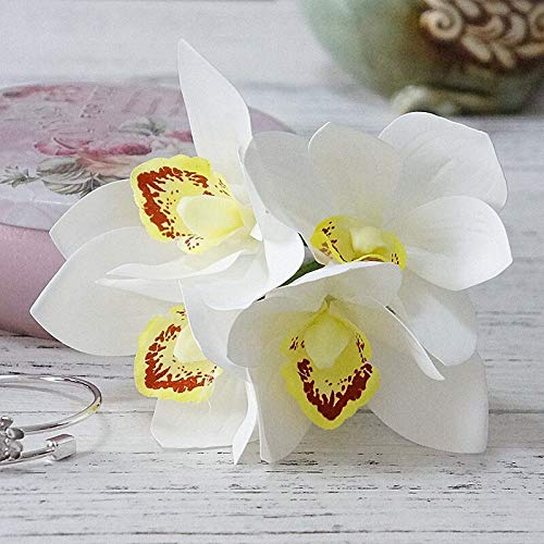 CoronationSun - Orchid Magnolia Silk - Wedding Decoration Silk Flowers Orchid Magnolia Wedding Artificial Flowers for Home Decoration
