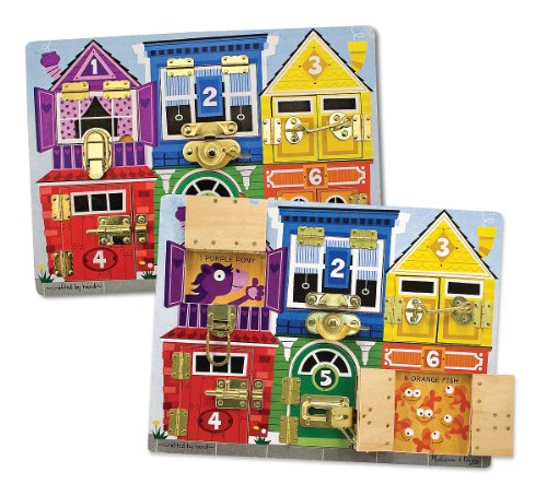 [Melissa & Doug Latches Wooden Activity Board] (National Costume Of All Countries)
