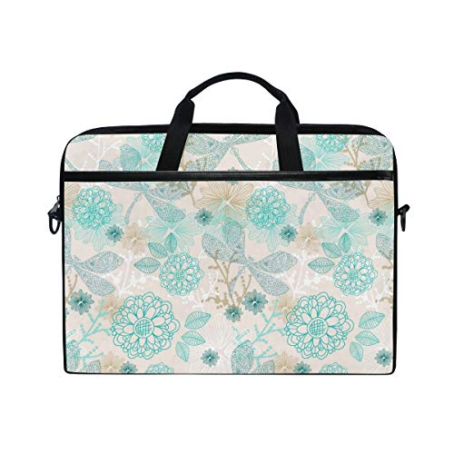Heart Jeweled Cute Dragonfly Lightweight Travel Business School Computer Bag Laptop Briefcase Shoulder Bag Protective Cover for Men and Women