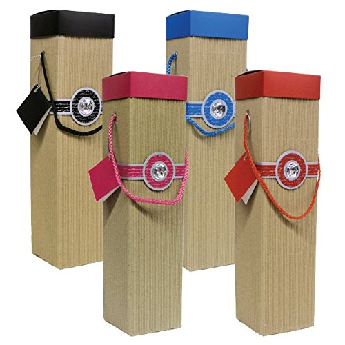 Endless Art US Wine Gift Box Set of 4pc Sancerre . Easy to Assemble and No Glue - Christmas Wine Boxes