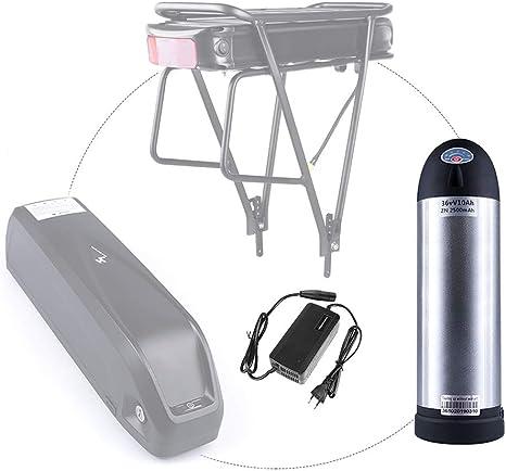 Junstar Batería eléctrica para Bicicleta batería de polímero de Litio de 36V batería Recargable de para Bicicleta eléctrica: Amazon.es: Deportes y aire libre