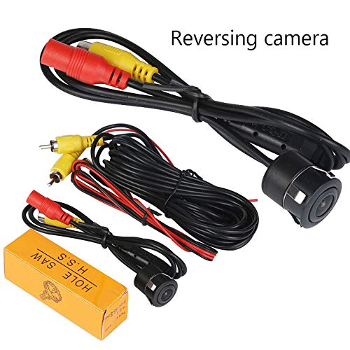 KUNAW 1/4 Inch Color CMOS/CCDCCD Flush Mount Waterproof Truck Car Reverse Backup Rear View Camera Fits All Cars Vehicles