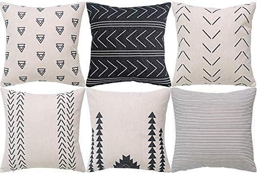 Tiamu Geometric Pillow Case Set Of 6