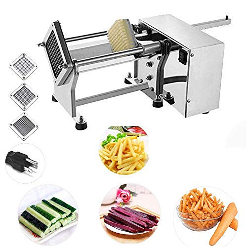 Li Bai Electric French Fry Cutter Commercial Potato Slicer Vegetable Chopper Fries Chip Maker for Tornado Potatoes Making (Auto) 3 sizes of replaceable blades DHL Shipping by Li Bai (Image #8)