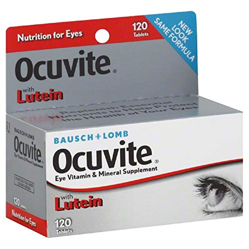 Ocuvite Eye Vitamins - BAUSCH & LOMB OCUVITE with Lutein! 120 Tablets Eye Care