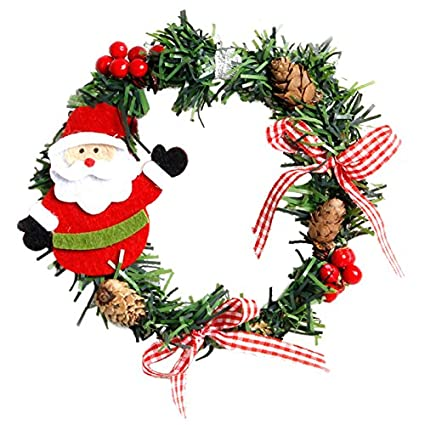 christmas garland sodialr 2pcs plastic christmas wreath garland christmas decorations for home