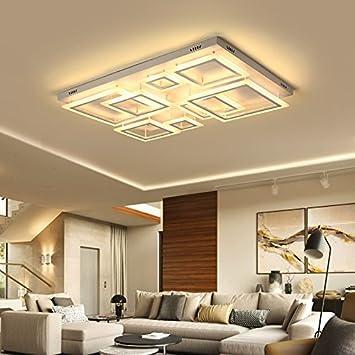 LLZXDD Plafón Lámparas De Techo con Control Remoto para Sala ...