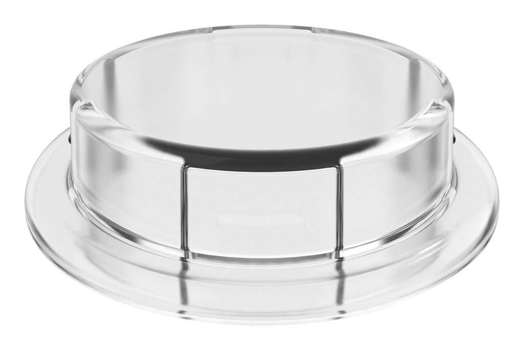VersaCap 83mm Closed Adapter Insert, Clearview, Polycarbonate (PC)