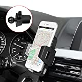 Ameauty Air Vent Car Phone Mount Holder with 360 Rotation and Release Button for Cell Phone iPhone Smartphone Android GPS Devices - Black