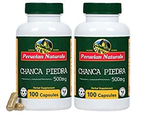 Peruvian Naturals Chanca Piedra 500mg - 200 Capsules (Stonebreaker) | Digestive Supplement for Kidney and Urinary Health