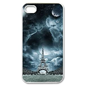 Customized Cover Case with Hard Shell Protection for Iphone 4,4S case with Eiffel Tower in Paris,France lxa#834886