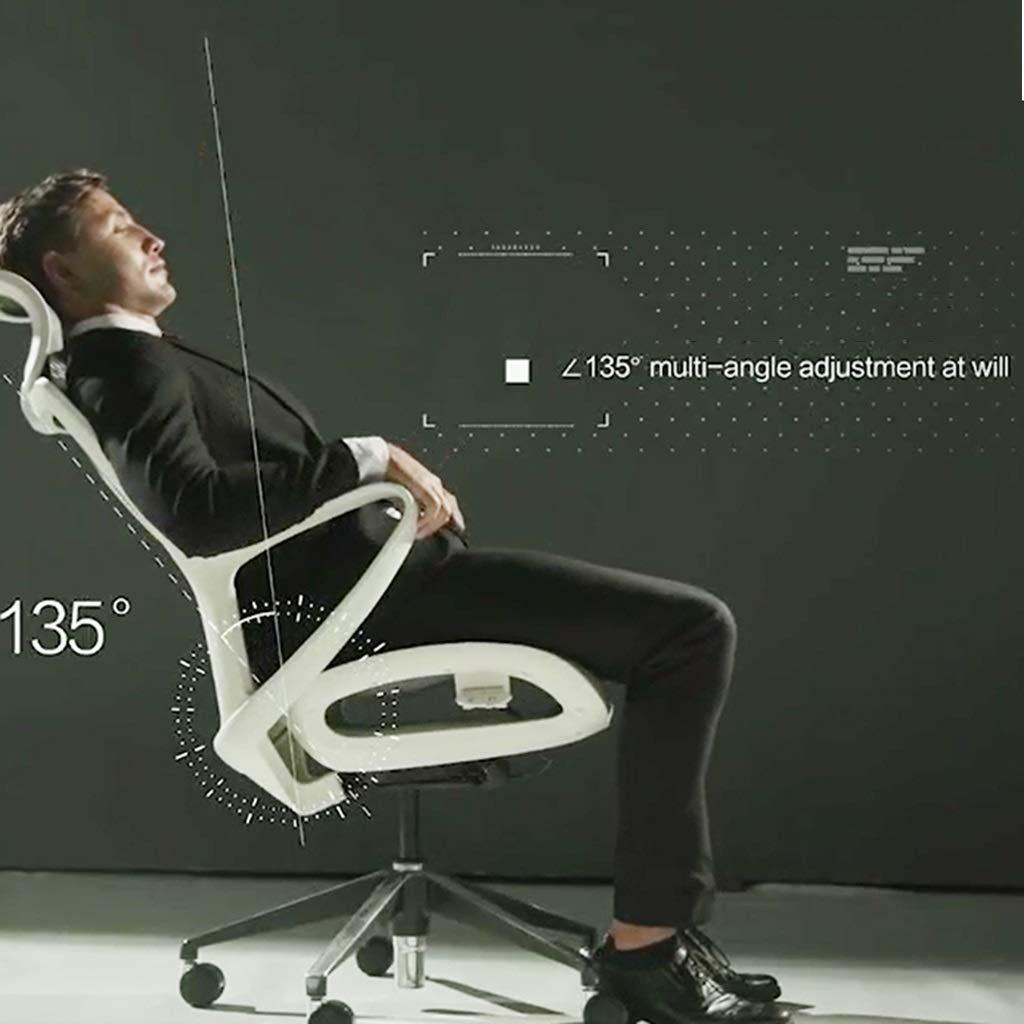ZZHZY BBGS verkställande chef kontorsstol, hem datorstol ergonomisk justerbar ländrygg stöd nät nylon förstärkt svängbar stol (färg: Stil 3) stil 3