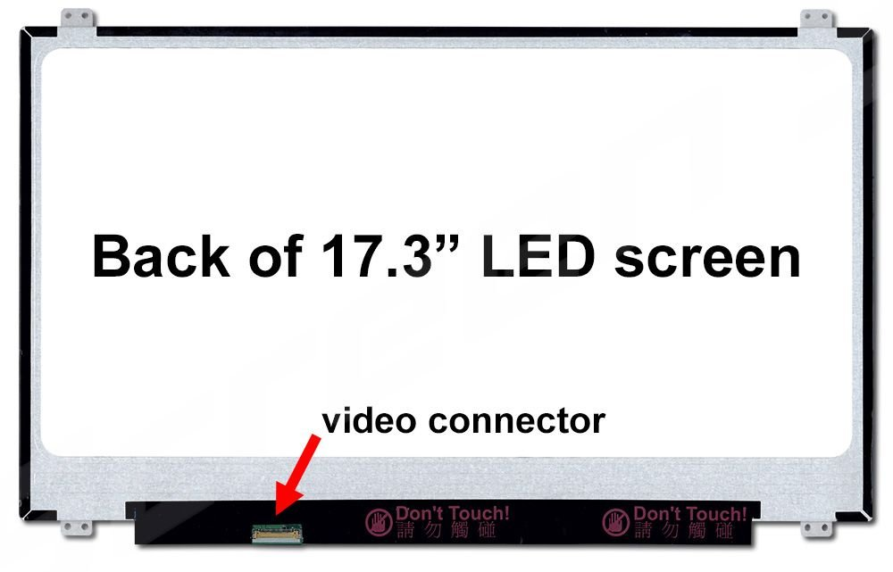 NT173WDM-N11 New Replacement LCD Screen for Laptop LED HD+ Glossy