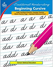 Carson Dellosa Beginning Cursive Workbook Grades 2-5— Letters, Words, Numbers, and Calendar Dates Handwriting
