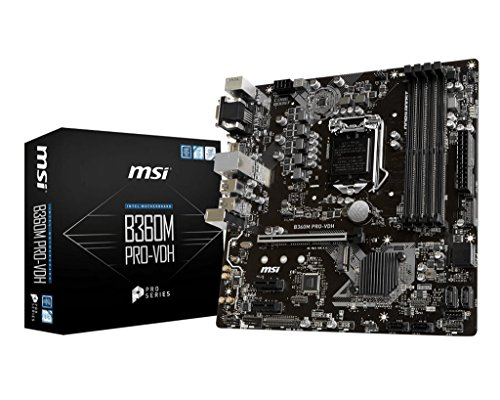 (MSI B360M PRO-VDH Desktop Motherboard Intel Chipset Socket H4 LGA-1151)