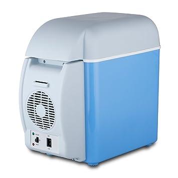 2 en 1 Mini Nevera Electrica Portatil Calentador 7.5L 12V para Coche Camion Vehiculo Camping