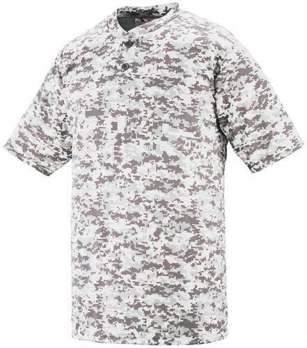 (Augusta Sportswear MEN'S DIGI CAMO WICKING TWO-BUTTON JERSEY 3XL White Digi)
