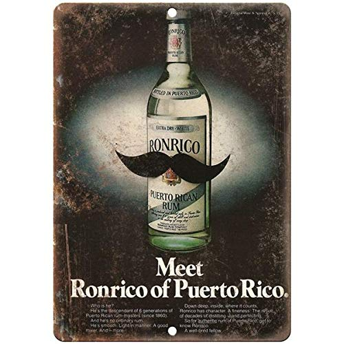 (Tollyee Ronrico Puerto Rican Rum Vintage Liquor Spirits Ad Reproduction Metal Sign 12 X 18 inches)