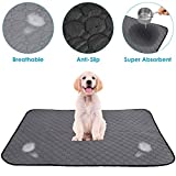 SlowTon Washable Pee Pad for Dogs - Super Fast Absorbent Reusable Waterproof Comfortable Unscented Puppy Doggy Cats Potty Housebreaking Training Pads Puppies Whelping Mat 39