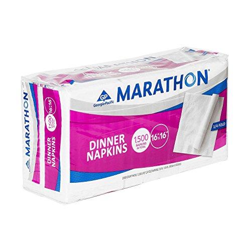 Marathon - Embossed Dinner Napkins, 1/4 Fold - 1,500 Napkins -