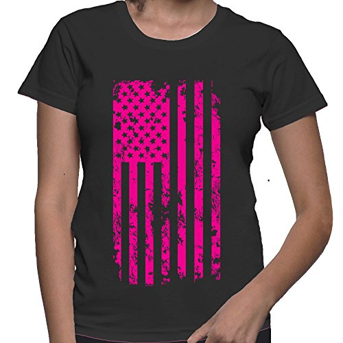 WOMENS Big Pink American Flag