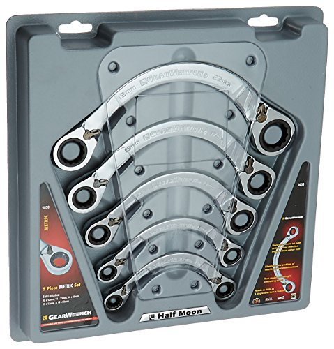 GEARWRENCH 9850 5 Piece Metric Half Moon Double Box Ratcheting Wrench Set by GearWrench (Image #1)