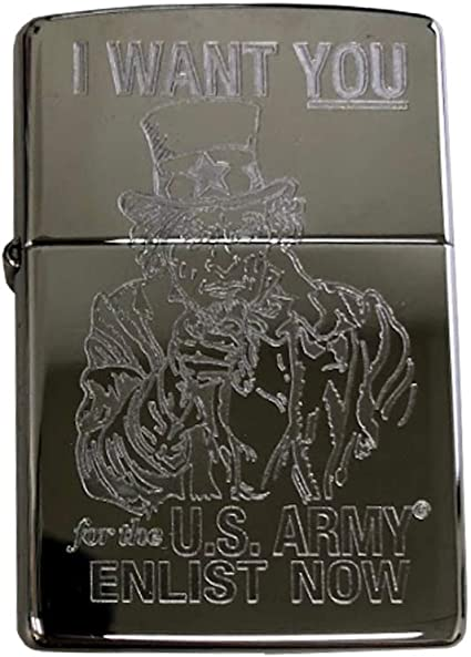 Zippo 205 uncle sam i want you to get a job Lighter