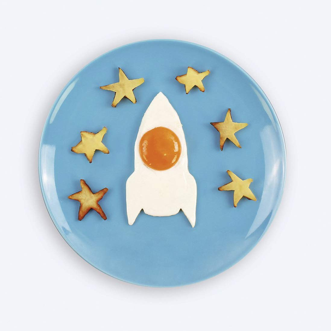 Space Egg Mold Make Rocket and Astronaut Pancake Eggs Nonstick Mold Ring for Stunning Breakfasts Every Time (Rocket)