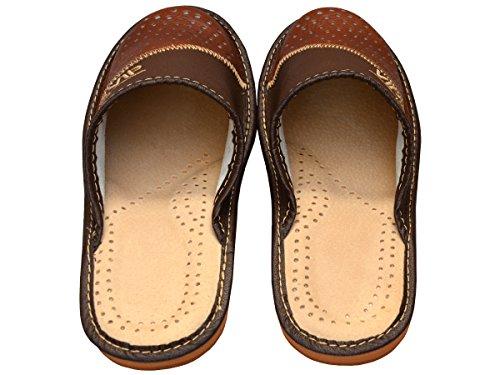 Bawal - Zapatillas de estar por casa de Piel para hombre Marrón marrón 40
